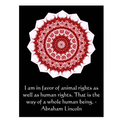 Cita de los derechos de los animales de Abraham Tarjetas Postales