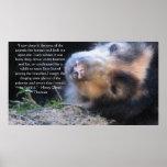Cita de los DERECHOS DE LOS ANIMALES de Henry Davi Póster