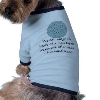 Cita de los derechos de los animales de Immanual K Camisas De Mascota