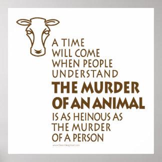 Cita de los derechos de los animales póster