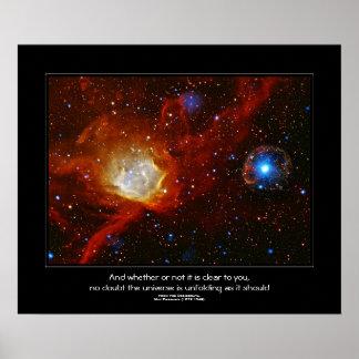 Cita de los desiderátums - chuchería celestial póster