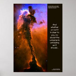 Cita de los desiderátums - torre en la nebulosa de posters