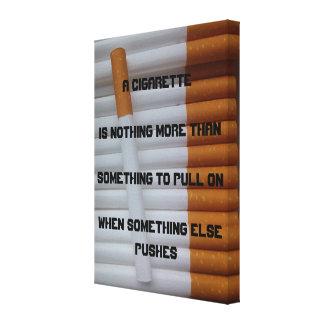Cita de los fumadores lona envuelta para galerias
