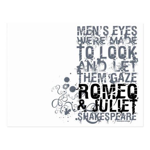 Cita de los hombres de Romeo y de Juliet Postales
