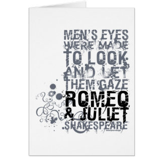 Cita de los hombres de Romeo y de Juliet Tarjeton