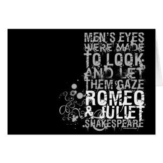 Cita de los hombres de Romeo y de Juliet Tarjeta De Felicitación