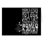 Cita de los hombres de Romeo y de Juliet Tarjetas