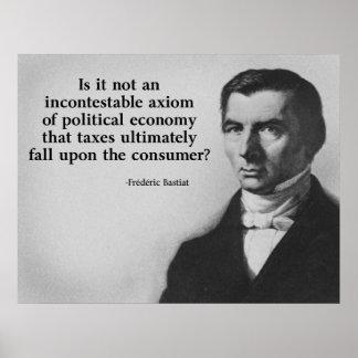 Cita de los impuestos de Bastiat Posters