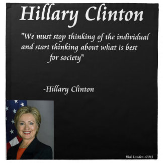 """Cita de los """"individuos"""" de Hillary Clinton Servilletas"""