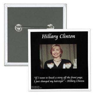 Cita de los peinados y de los títulos de Hilary Pin Cuadrada 5 Cm