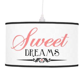 Cita de los sueños dulces por citas que encantan lámpara de techo
