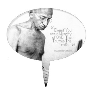 Cita de Mahatma Gandhi, minoría de una, verdad Decoraciones De Tartas