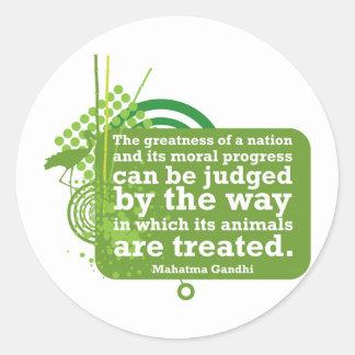 Cita de Mahatma Gandhi Pegatinas Redondas