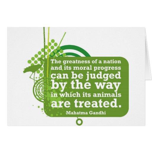 Cita de Mahatma Gandhi Tarjeta De Felicitación