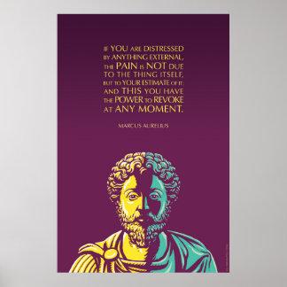 Cita de Marco Aurelius: El poder de revocar Póster
