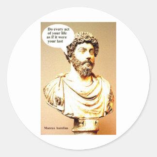 Cita de MARCO AURELIUS - la cita de MARCO AURELIUS Pegatina Redonda