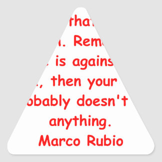 Cita de Marco Rubio Pegatina Triangular