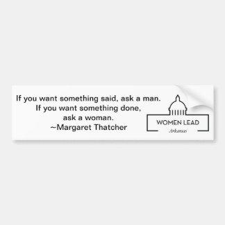 Cita de Margaret Thatcher Pegatina Para Auto