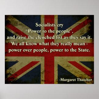 Cita de Margaret Thatcher Póster