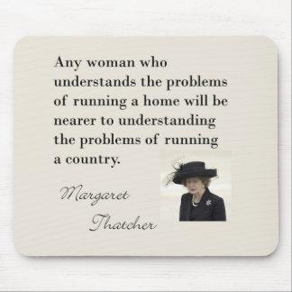 """Cita de Margaret Thatcher """"que corre un país… """" Tapete De Ratón"""