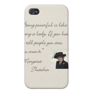 Cita de Margaret Thatcher que es potente… iPhone 4 Cárcasa