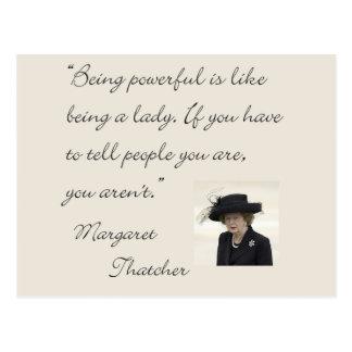Cita de Margaret Thatcher que es potente… Tarjeta Postal