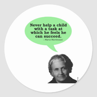 Cita de Maria Montessori Pegatina Redonda