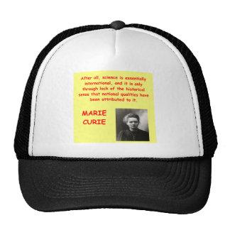 Cita de Marie Curie Gorra