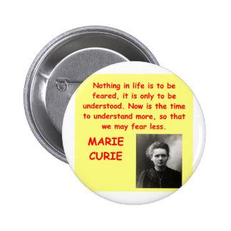 Cita de Marie Curie Pins