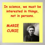 Cita de Marie Curie Posters