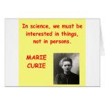 Cita de Marie Curie Tarjetón