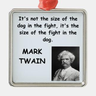Cita de Mark Twain Adorno Navideño Cuadrado De Metal