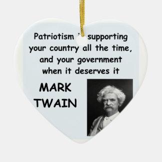 Cita de Mark Twain Adorno Navideño De Cerámica En Forma De Corazón