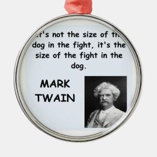Cita de Mark Twain Adorno Navideño Redondo De Metal