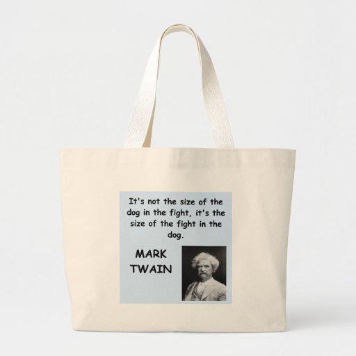 Cita de Mark Twain Bolsa Tela Grande