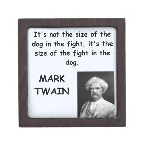 Cita de Mark Twain Caja De Regalo De Calidad