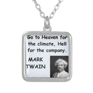 Cita de Mark Twain Colgante Cuadrado