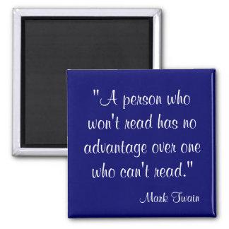 Cita de Mark Twain Imán Cuadrado