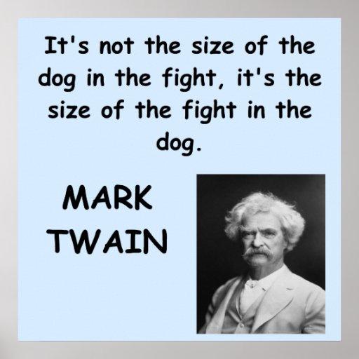 Cita de Mark Twain Impresiones