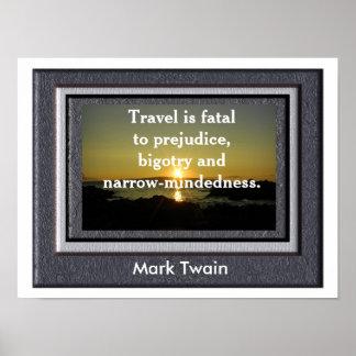 Cita de Mark Twain - poster Póster