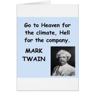 Cita de Mark Twain Tarjeta De Felicitación