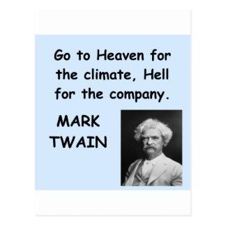Cita de Mark Twain Tarjetas Postales
