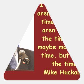 Cita de Mike Huckabee Pegatina Triangular