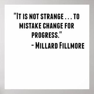 Cita de Millard Fillmore Póster