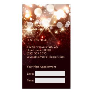 Cita de moda de la chispa del oro del estilista tarjetas de visita
