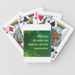 Cita de motivación baraja cartas de poker
