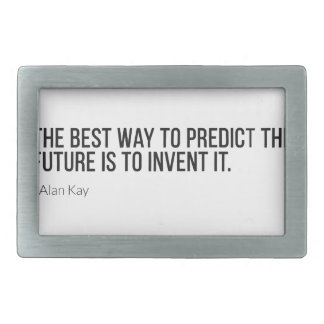 Cita de motivación de Alan Kay Hebillas Cinturon Rectangulares