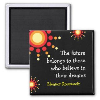 Cita de motivación de Eleanor Roosevelt del ~ de Imán Cuadrado