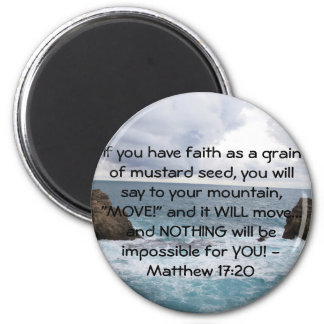 Cita de motivación de la biblia del 17:20 de Matth Iman De Frigorífico