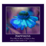 Cita de motivación de la flor del Zinnia de la fel Posters